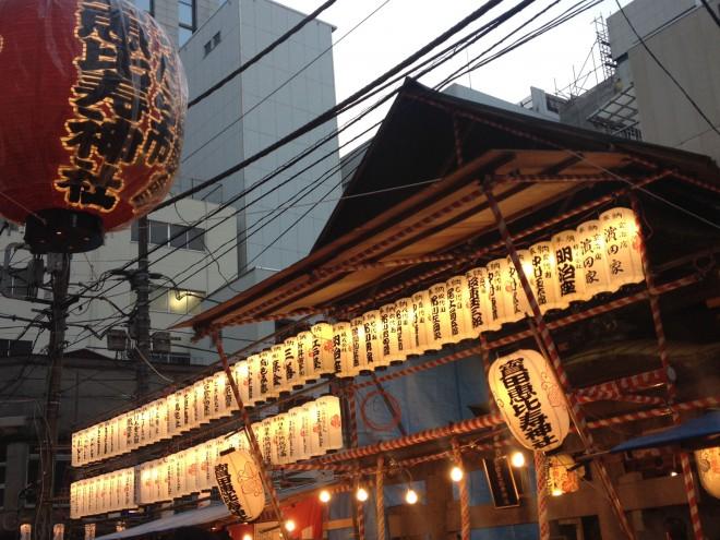 露店がずらり、日本橋べったら市