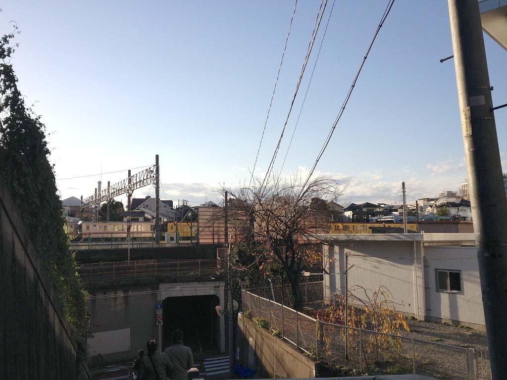 庚申坂から見る小石川操車場