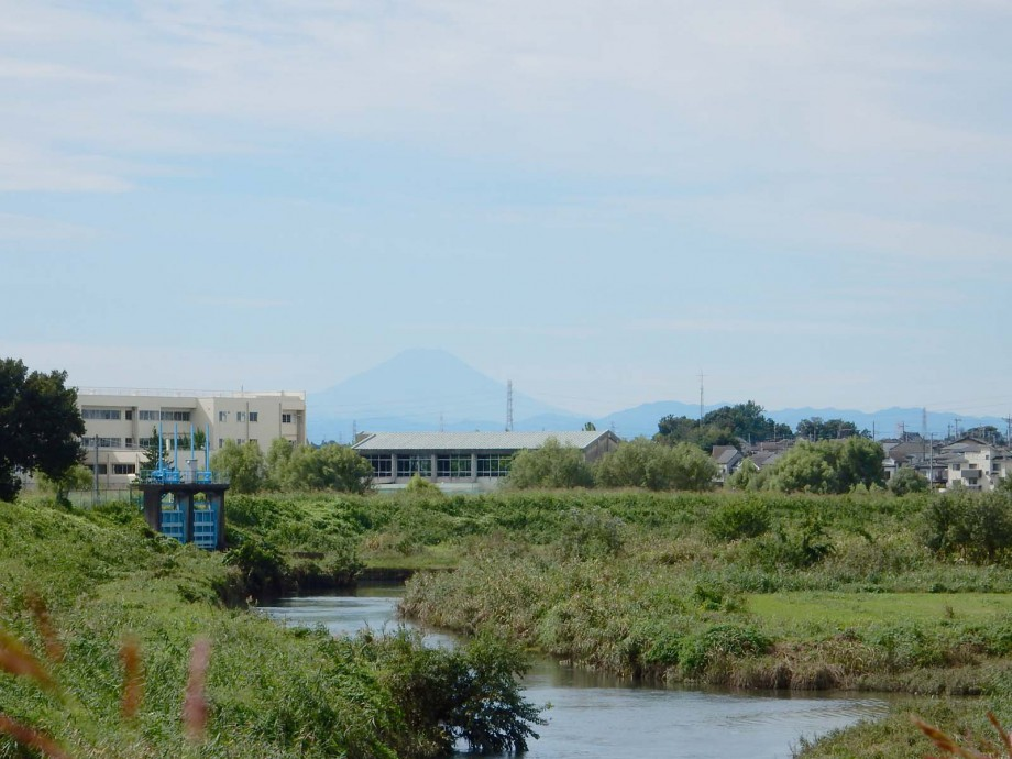この秋はじめての、富士山