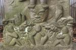 馬橋の庚申塔の邪鬼