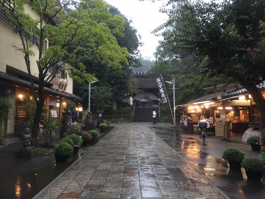 雨の門前町