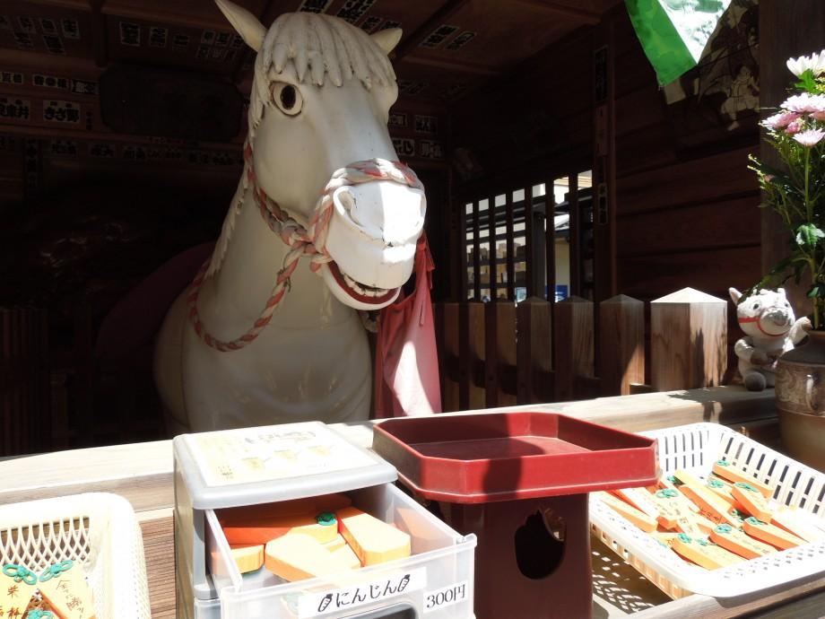 私は新田義貞公の霊馬です。 山口観音 金乗寺