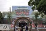 寺社の修繕にプリント幕が流行中