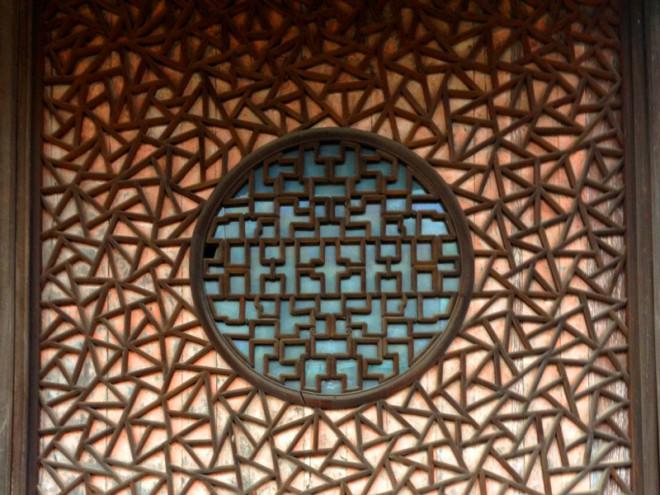 長崎唐寺の氷裂式組子|長崎興福寺