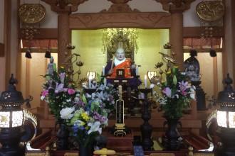 徳川家・蒲生家との縁を示す三つ葉葵|薬王寺