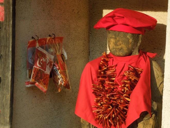 3年前の今日のお寺|とうがらし首飾りのお地蔵さん