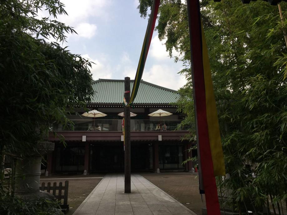 梅雨明け直前のお寺カフェ