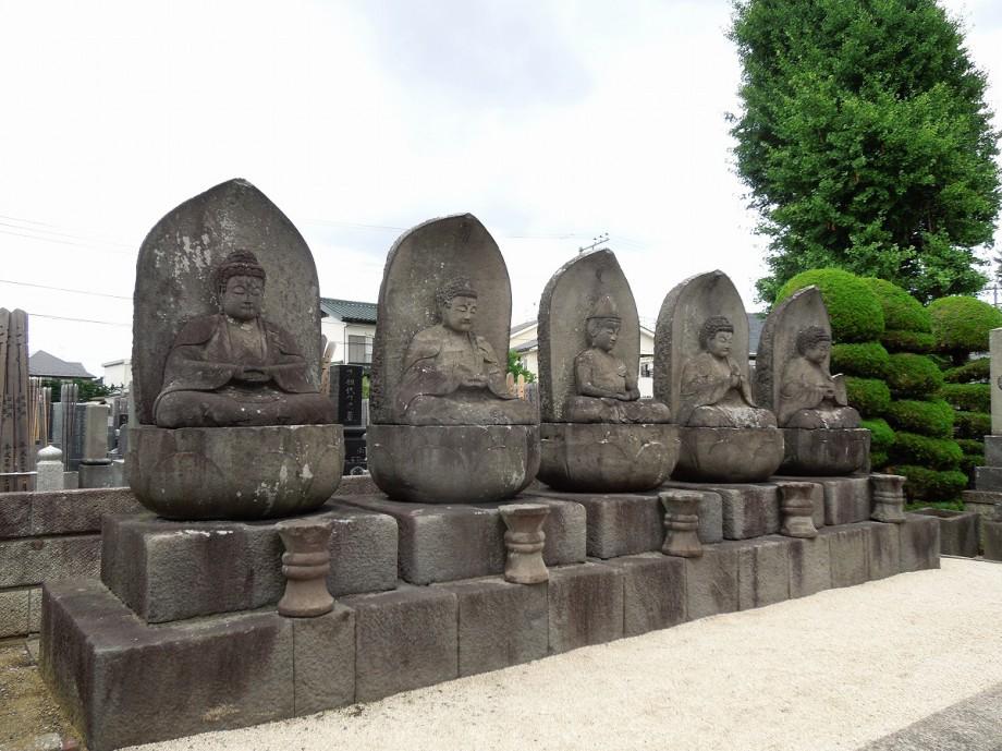 石造五智如来と樹木葬